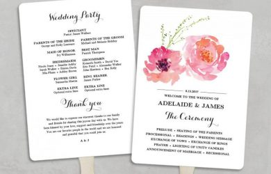wedding program fans template printable wedding program fan template wedding fans diy wedding programs editable text x pink peony