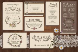 wedding program template free mockup o x