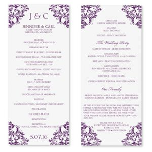 wedding program template word il xn unr