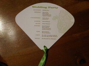wedding programs fans templates fan