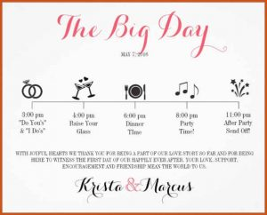wedding schedule template wedding schedule template wedding celebrartions itinerary for download