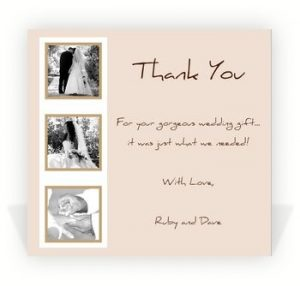 wedding thank you note examples gorgeous wedding thank you card