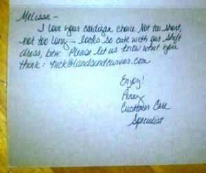 wedding thank you notes sample lands end