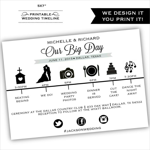 Wedding Timeline Template  Template Business
