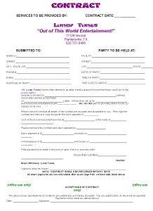 wedding venue contract contactfront