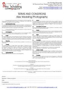 wedding venue contract wedding photography booking form and contract