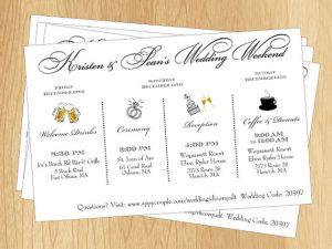 wedding weekend itinerary template il xn liz