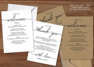 wedding weekend itinerary template wedding itinerary template