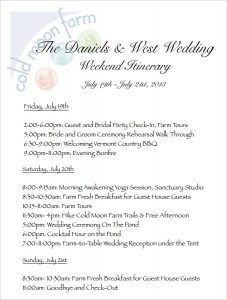 wedding weekend itinerary template wedding weekend itinerary template pdf download