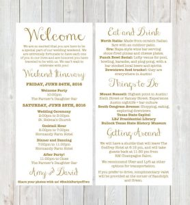 hotel welcome letter exles vrupgrade free checklist wedding weekend itinerary template template business 113