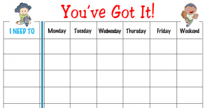 weekly behavior charts free weekly behavior chart youve got it