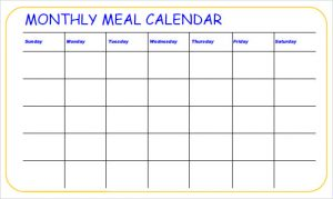 weekly budget printable monthly meal calender