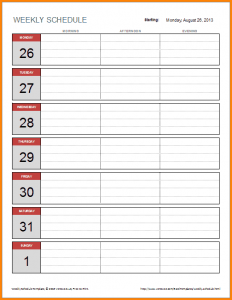 weekly budget printable weekly schedule template excel simple weekly schedule