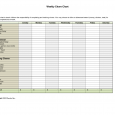 weekly chore chart template weekly chore chart template