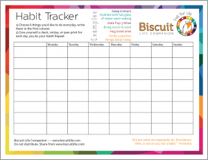 weekly food journal habit tracker screenshot