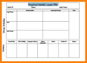 weekly lesson plan for preschool printable lesson plan template excel preschool weekly blank lesson plan