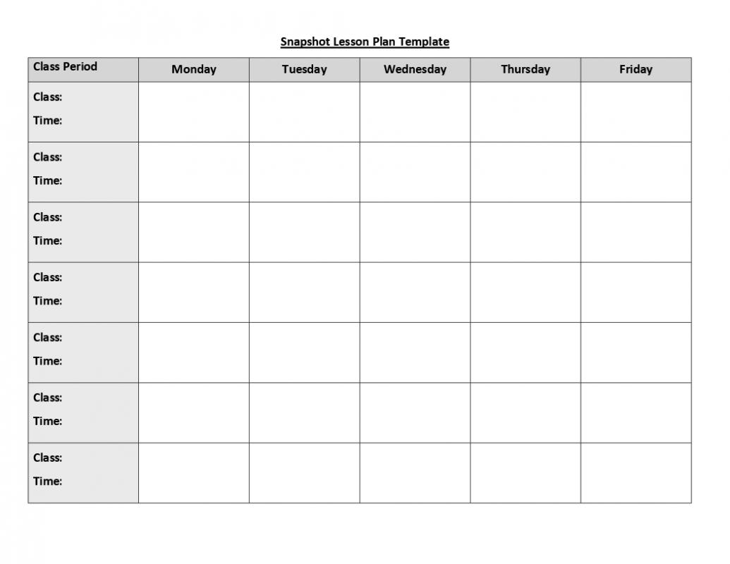 Free Weekly Lesson Plan Template | weekly lesson plan template doc 0003084 lesson plan templates six pack