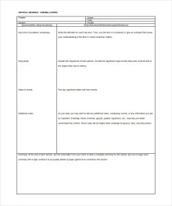 weekly lesson plan template pdf critical reading cornell notes template