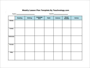 weekly lesson plan template word weekly lesson plan template word weekly lesson plan for students free pdf download cbyuya