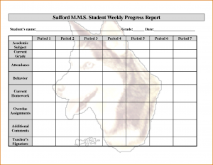 weekly progress report template weekly progress report template