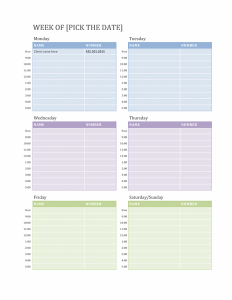 weekly schedule template word weekly calendar template