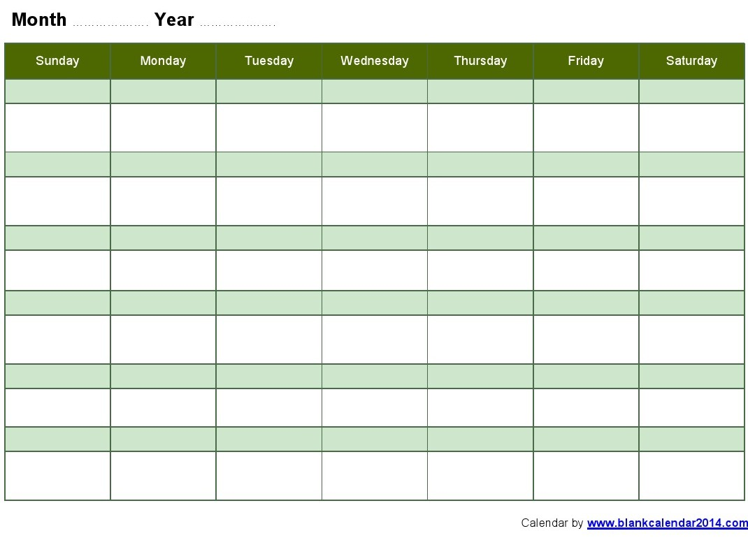 weekly schedule template word
