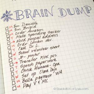 weekly time sheets bujo braindump
