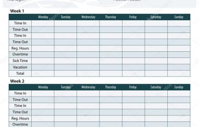 weekly time sheets depositphotos stock illustration employee timesheet template