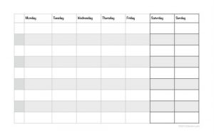 weekly time sheets weekly planning sheet