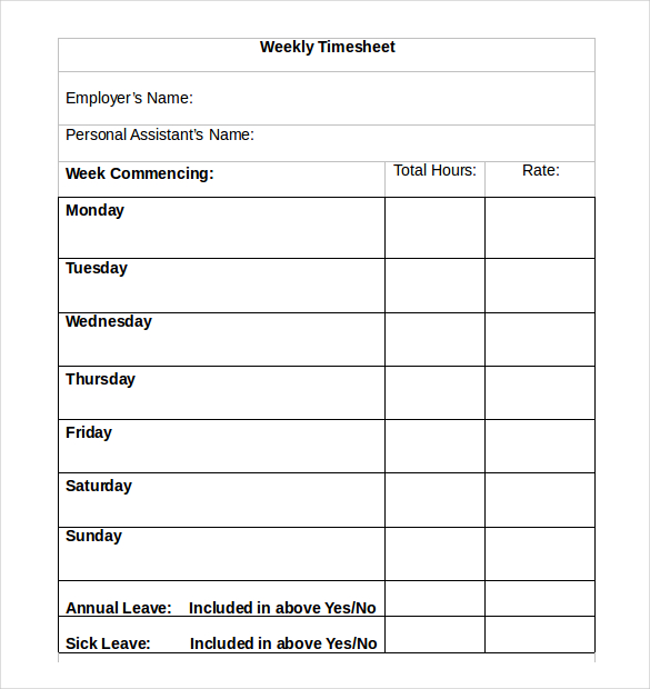 Weekly timesheet template template business for Daily timesheet template excel 2010