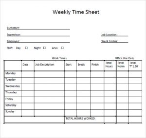 weekly timesheet template weekly timesheet template for multiple employees