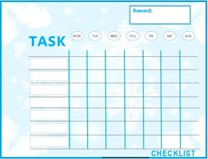 weekly to do list templates kids weekly to do list template