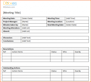 weekly update template minutes template action item meeting minutes template