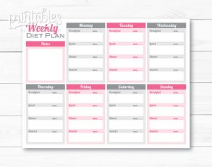 weekly weight loss chart il xn mml