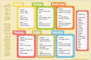 weekly weight loss chart weeklyplanner