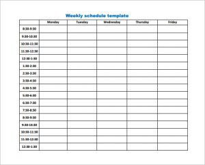 weekly work schedule template business weekly work schedule template pdf download