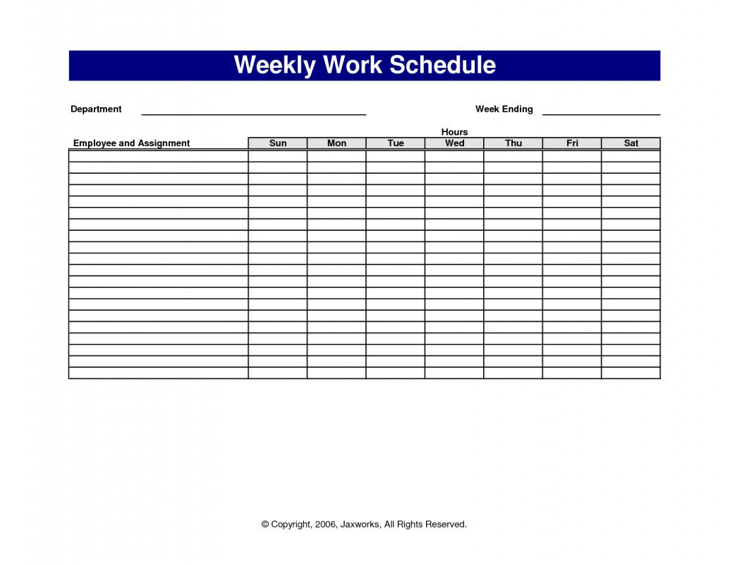 weekly work schedule template template business. Black Bedroom Furniture Sets. Home Design Ideas