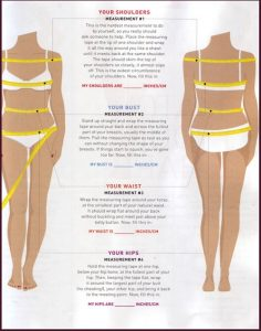 weight loss measurement chart measuring