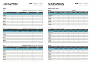 weight tracker chart fitness progress