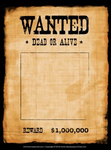 western wanted poster wanted poster template