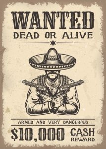 western wanted poster wild west wanted poster in vector eps download