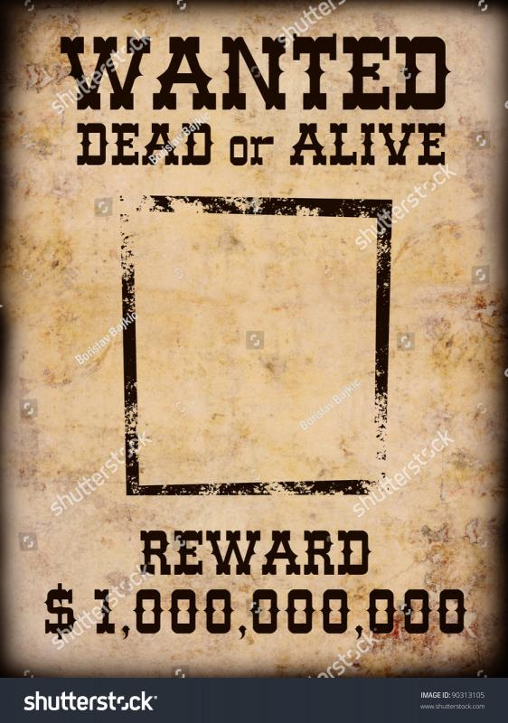 western wanted posters