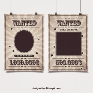 western wanted posters western posters of a wanted bandit