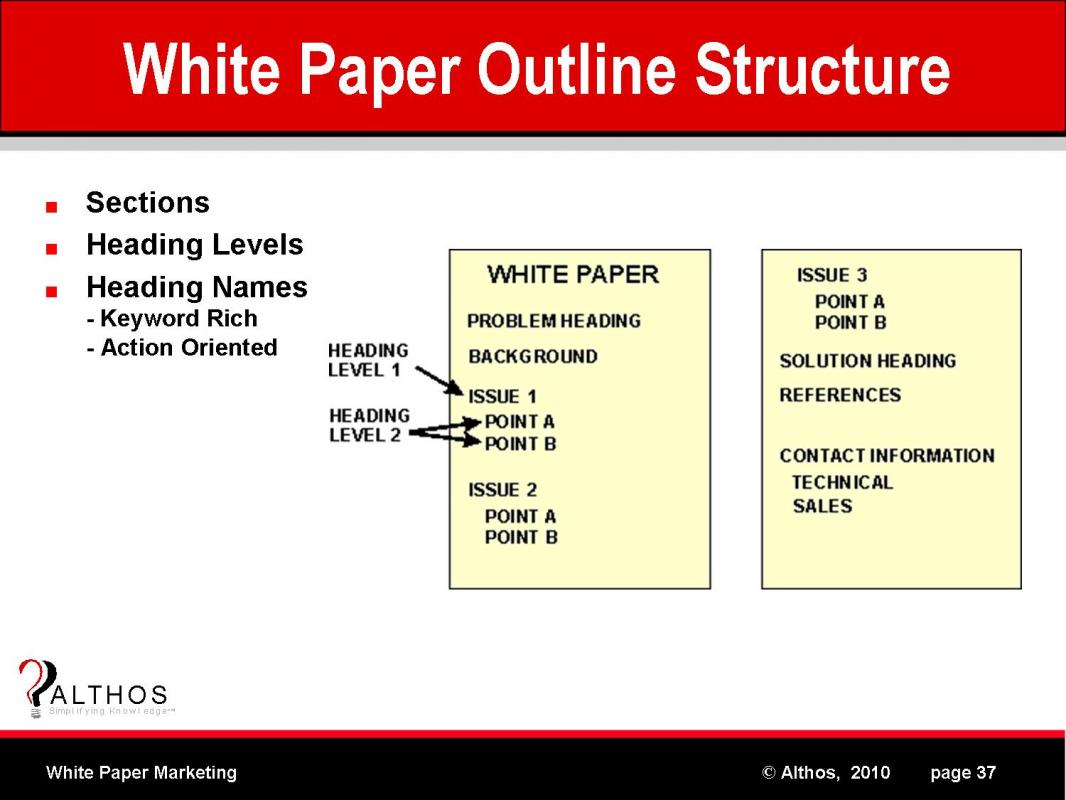 white paper outline