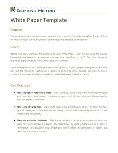 white paper outline white paper template