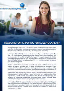 why should you receive this scholarship essay examples reasons for applying for a scholarship