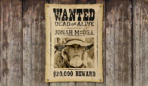 wild west wanted poster d