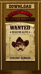 wild west wanted poster screenx