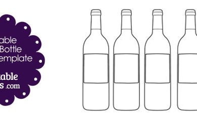 wine bottle template free printable wine bottle shape template x