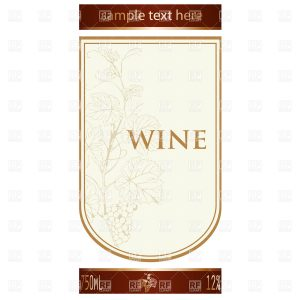 wine label template template of wine label with vine and bunch of grapes download royalty free vector file eps